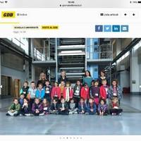 Visita al Centro Stampa del Giornale di Brescia.