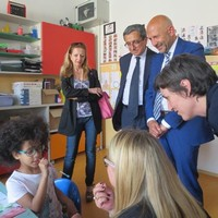 Visita del dott. Giuseppe Bonelli, nuovo Provveditore dell'U. S. P. di Brescia.