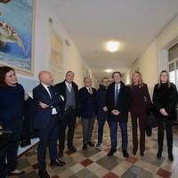 Il presidente Fontana e una delegazione della giunta regionale all'Audiofonetica