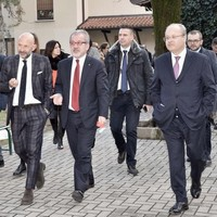 Visita del presidente della Regione Lombardia, Roberto Maroni